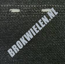 Winddoek / privacyscherm / dicht windbreekgaas kleur zwart