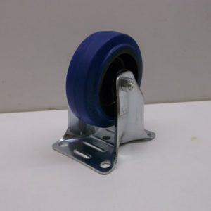 zwenkwielen en bokwielen met elastisch rubber loopvlak